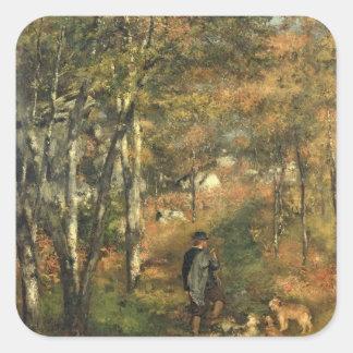 Adesivo Quadrado Pierre um Renoir | Jules Le Coeur na floresta