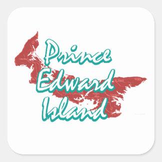 Adesivo Quadrado Prince Edward Island
