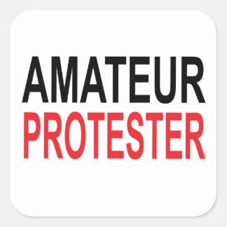 Adesivo Quadrado Protestador amador