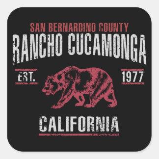 Adesivo Quadrado Rancho Cucamonga