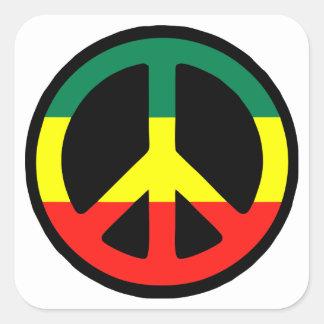 Adesivo Quadrado Reggae