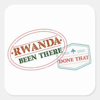 Adesivo Quadrado Rwanda feito lá isso