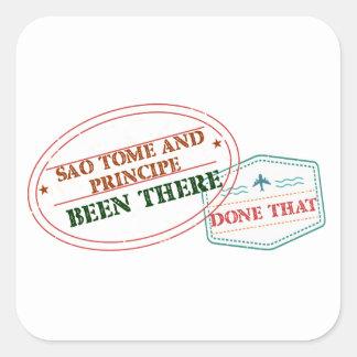 Adesivo Quadrado Sao Tome and Principe feito lá isso