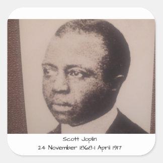 Adesivo Quadrado Scott Joplin