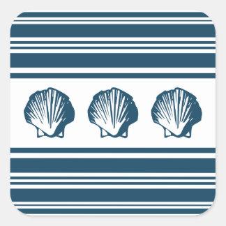 Adesivo Quadrado Seashells e listras