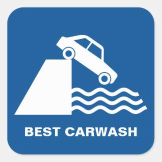 Adesivo Quadrado Sinal engraçado do Carwash