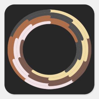 Adesivo Quadrado Suporte para o símbolo racial da unidade