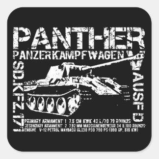 Adesivo Quadrado Tanque da pantera