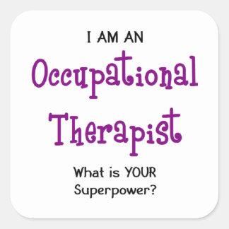 Adesivo Quadrado terapeuta ocupacional