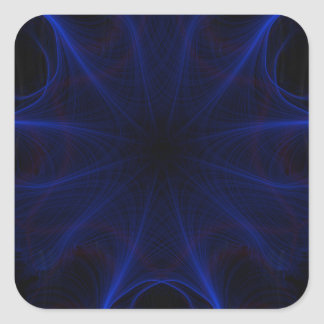 Adesivo Quadrado teste padrão azul do laser