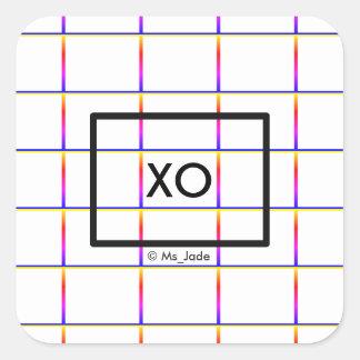 Adesivo Quadrado Teste padrão minimalista personalizado da placa de