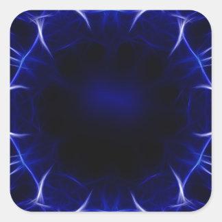 Adesivo Quadrado teste padrão roxo do laser