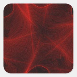 Adesivo Quadrado teste padrão vermelho do laser