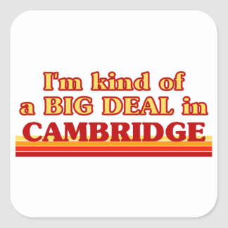 Adesivo Quadrado Tipo de I´m de uma grande coisa em Cambridge