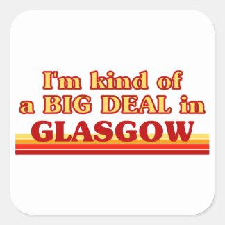 Adesivo Quadrado Tipo de I´m de uma grande coisa em Glasgow