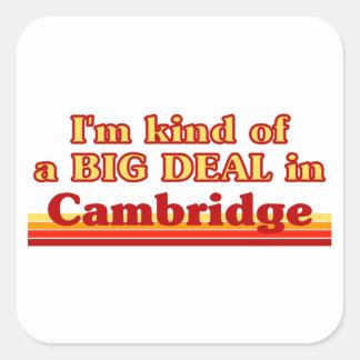 Adesivo Quadrado Tipo de I'm de uma grande coisa em Cambridge