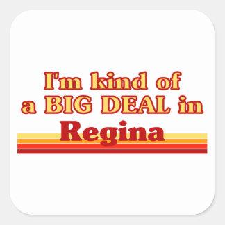 Adesivo Quadrado Tipo de I'm de uma grande coisa em Regina