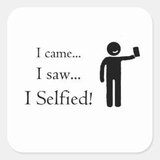 Adesivo Quadrado Veni Vidi Selfie