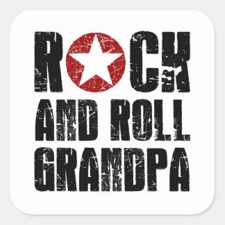 Adesivo Quadrado Vovô do rock and roll