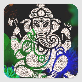 Adesivo Quadrado Zen Ganesh