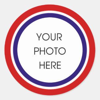 Adesivo Quadro branco e azul vermelho da foto