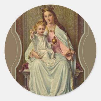 Adesivo Rainha coroada do céu Jesus infantil que guardara
