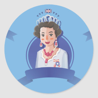 Adesivo rainha elizabeth 2