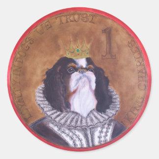 Adesivo Rei Charles de HRH, selos descuidados do Spaniel