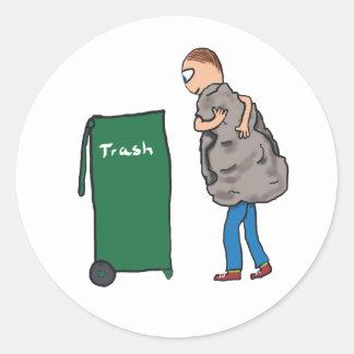 Adesivo Remova os desperdícios