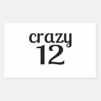 Adesivo Retangular 12 designs louco do aniversário