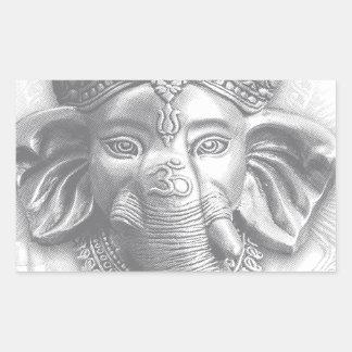Adesivo Retangular 3d senhor Ganesha - OM