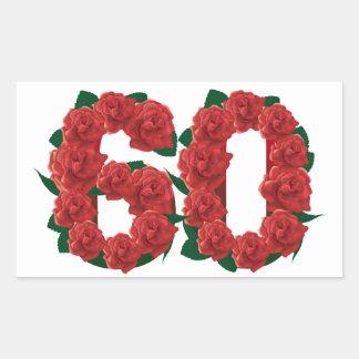 Adesivo Retangular 60th