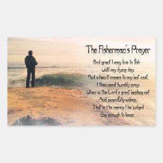 Adesivo Retangular A oração de Fishermans