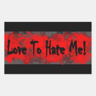 Adesivo Retangular Amor & ódio!