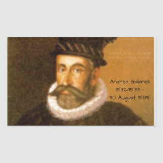 Adesivo Retangular Andrea Gabrieli