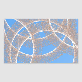Adesivo Retangular anéis claros no abstrato azul do fundo