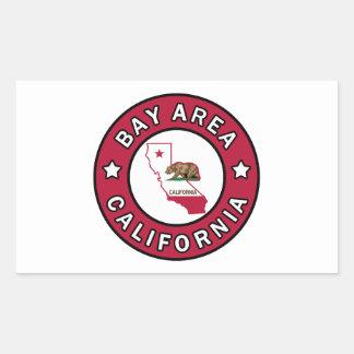 Adesivo Retangular Área Califórnia da baía