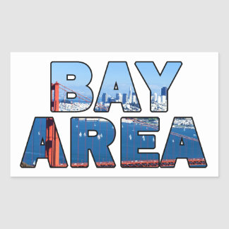 Adesivo Retangular Área de San Francisco Bay