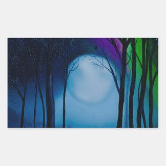 Adesivo Retangular Arte da floresta da fantasia