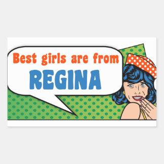 Adesivo Retangular As melhores meninas são de Regina
