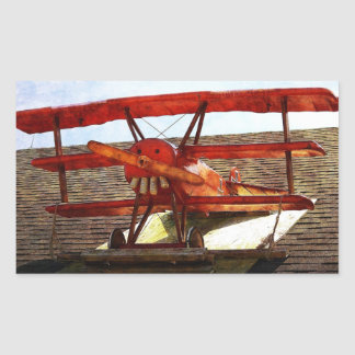 Adesivo Retangular Avião do vintage por Shirley Taylor