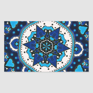 Adesivo Retangular Azulejo ÁRABE Iznik do vintage, Turquia, século