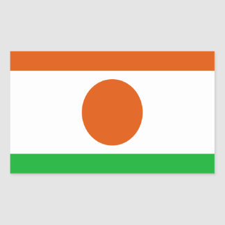 Adesivo Retangular Baixo custo! Bandeira de Niger