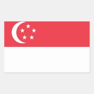 Adesivo Retangular Baixo custo! Bandeira de Singapore