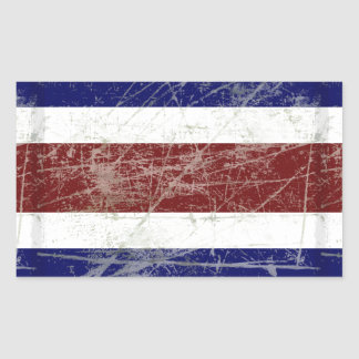 Adesivo Retangular Bandeira da Costa Rica