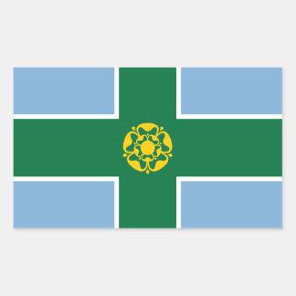 Adesivo Retangular Bandeira de Derbyshire