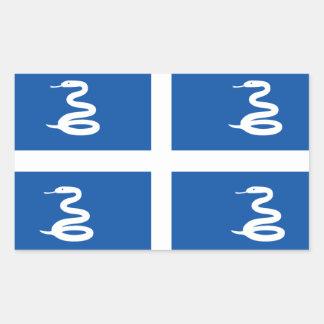 Adesivo Retangular Bandeira de Martinica