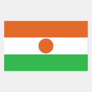 Adesivo Retangular Bandeira de Niger