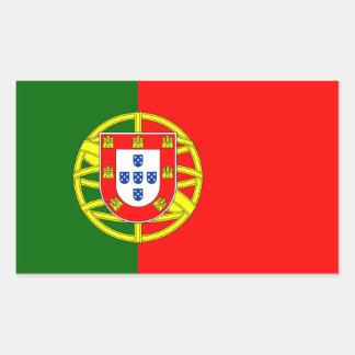 Adesivo Retangular Bandeira de Portugal