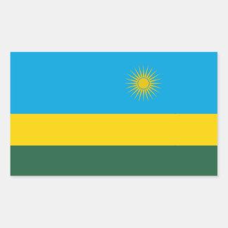 Adesivo Retangular Bandeira de Rwanda